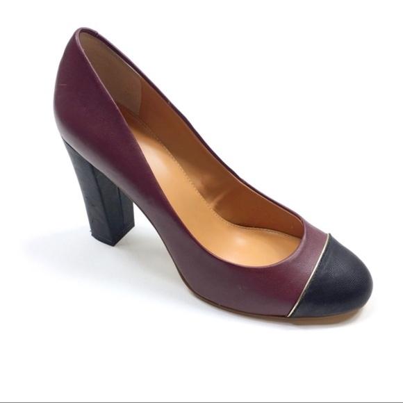 984e6418f5b J. Crew Shoes - J.Crew Leather Cap Toe Etta Heels